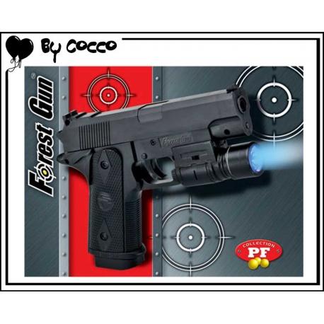 Pistolet à Billes Plastique avec Lampe (Piles Incluses) 10cmx8cm
