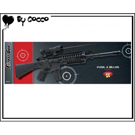 Fusil à Billes Plastique avec Laser (Piles Incluses) 75cm x 20cm