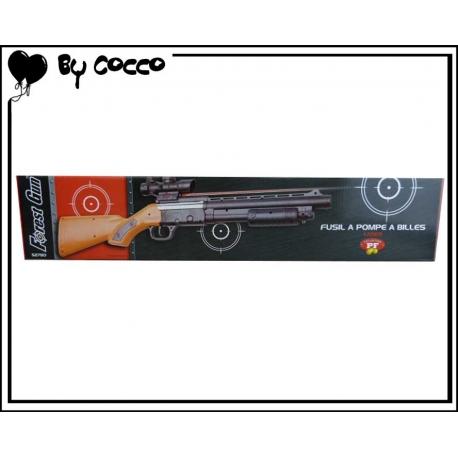 Fusil à Pompe à Billes Plastique avec Laser (Piles Incluses) 58cm x 10cm