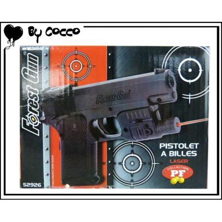 Pistolet à Billes Plastique avec Laser (Piles Incluses) 12cm x 8cm