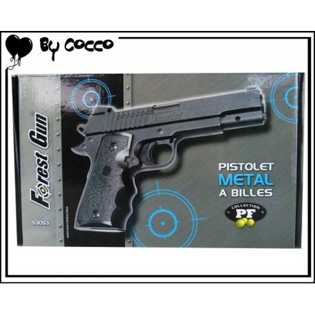 Pistolet à Billes Métal 20cm x 12cm