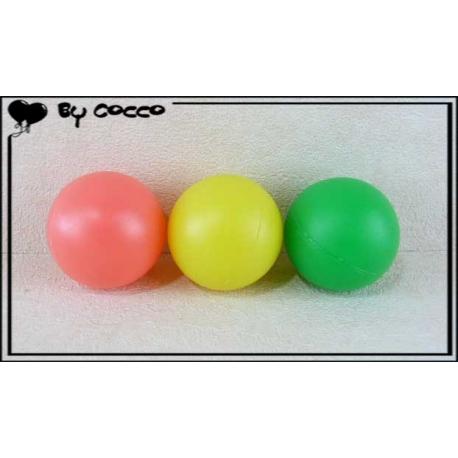 Balles pour Raquettes de Plage x3 Rose/Jaune/Vert