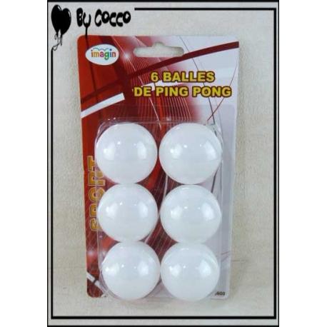 6 Balles de Ping-Pong Blanc