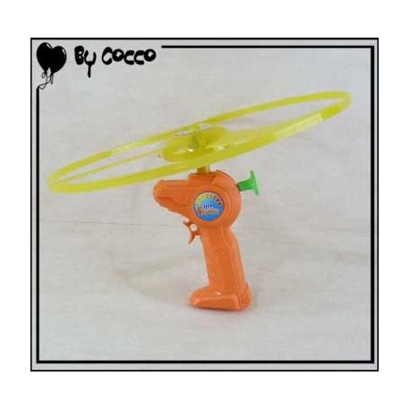 Disque Volant avec Lanceur Orange/Jaune