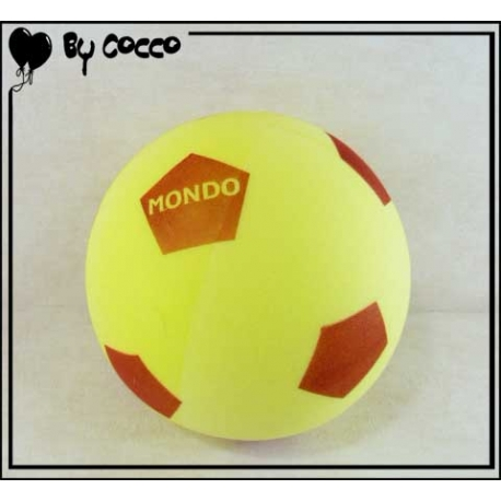 Ballon Football en Mousse Jaune/Rouge