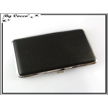Porte Cigarettes - Style Cuir - Noir