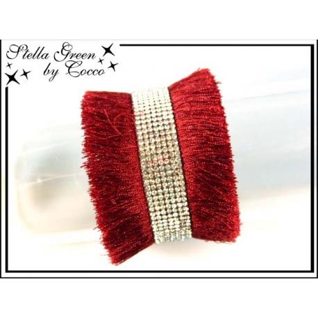 Bracelet Stella Green Multi franges / Strass - Rouge