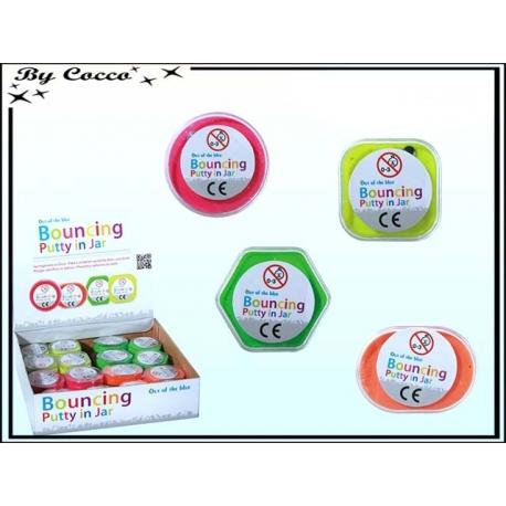 Pâte magique - Bouncing Putty - Rebondissante et Couleurs Fluo x 48