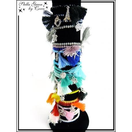 Bracelets - Stella Green - Perles - Pompon - Charms (x24)