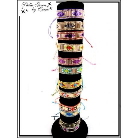 Bracelets - Stella Green - Petites et grosses perles (x12)