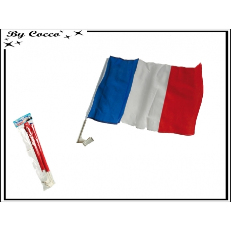 Drapeau de voiture - Set de 2 pcs - 30x45 cm - France