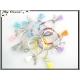 Bracelet - Stella Green - Pompon - Perles à facettes - Mate - Transparentes - Multicolor - x12 - 3,29 à l'unité