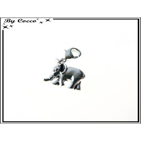Charm - Elephant - Argent
