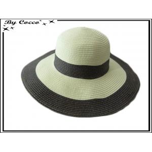 Grand chapeau - Beige / Marron