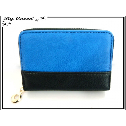 Porte-monnaie - Bi-color - Noir / Bleu