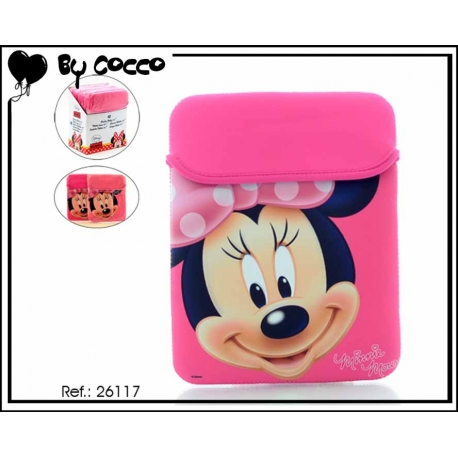 x2 coloris Housse à tablette Minnie Rose / Fuschia