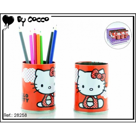 Pot à crayons Hello Kitty Rouge