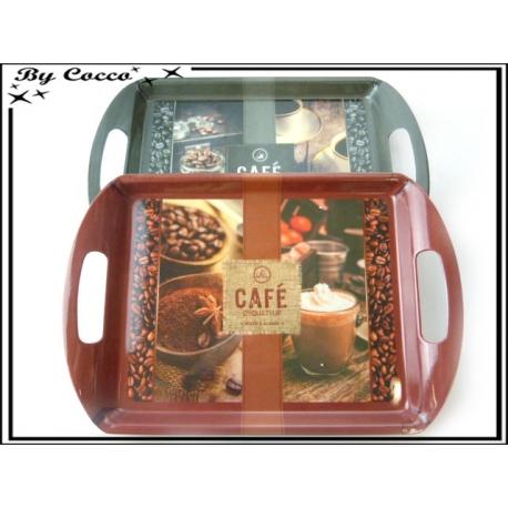 Plateau Café - Rouge / Noir x2
