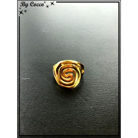 Bague - Plaqué or - Spirale
