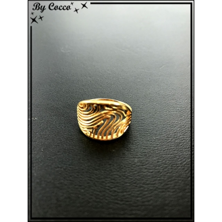 Bague - Plaqué or - Courbes