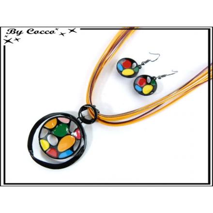 Parure Fantaisie - Ronds - Mosaique - Multicolor