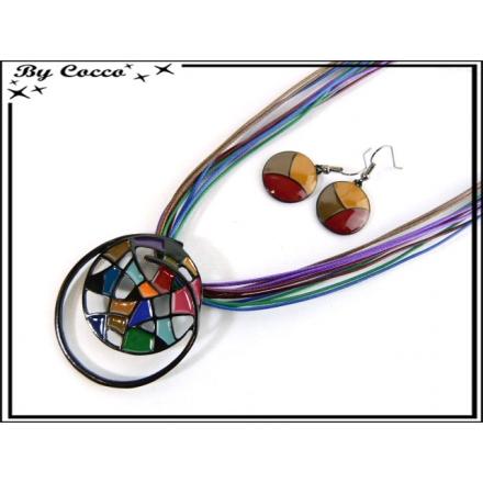 Parure Fantaisie - Mosaique - Multicolor