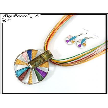 Parure Fantaisie - Ronds - Triangles - Multicolor