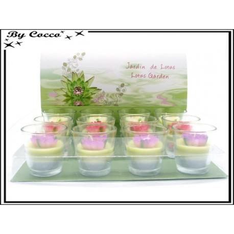 Bougies - Fleurs de Lotus - Verre x12