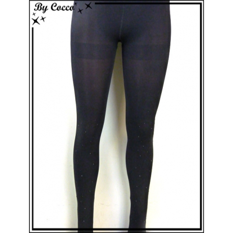 Collants - Unis - Opaque - Strass - Noir