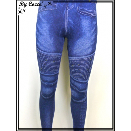 Legging - Aspect Jean - Effets fronces
