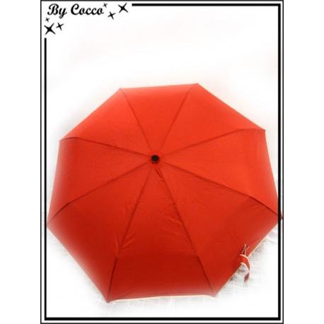 Parapluie - Pliable - Liseré beige - Rouge