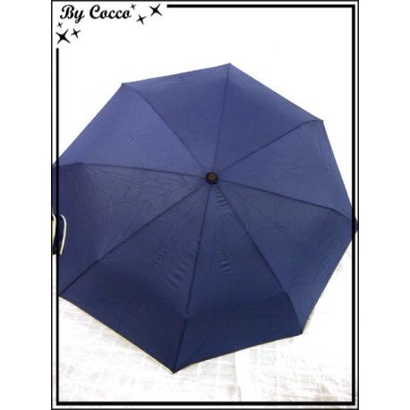 Parapluie - Pliable - Liseré beige - Bleu marine