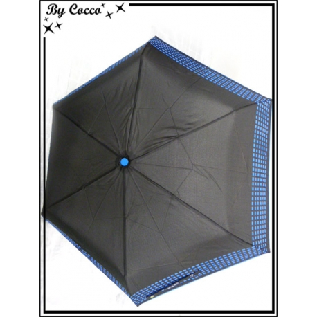 Parapluie - Pliable - Petits carrés - Bleu