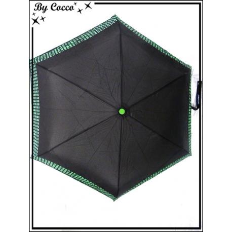 Parapluie - Pliable - Petits carrés - Vert