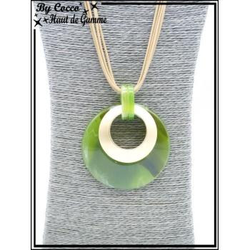 Sautoir - Ronds couleurs acidulées - Vert