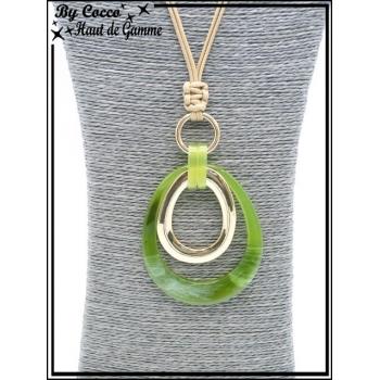 Sautoir - Oeufs couleurs acidulées - Vert