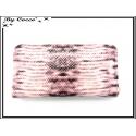 Porte-monnaie - Multi-compartiments - Ecailles - Rose / Marron