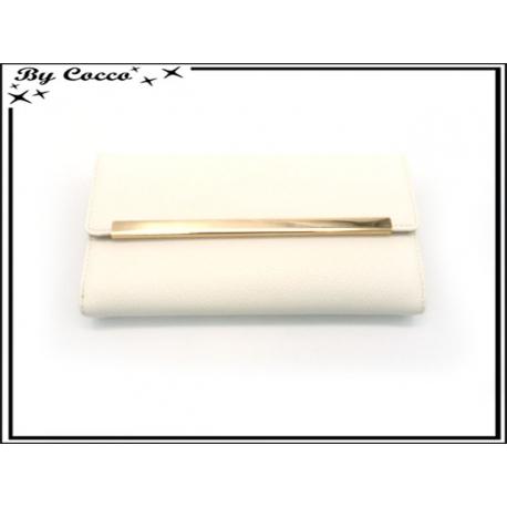 Compagnon avec chaînette dorée - Blanc