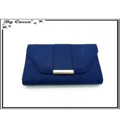 Compagnon - Fermeture avec bartette dorée - Bleu marine