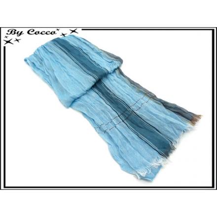 Chèche - Froissé - 12019 - Bleu