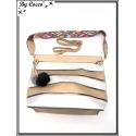 Sac à main - Grand format - Bi-color - Transparent et sa pochette intérieur - Argent / Doré