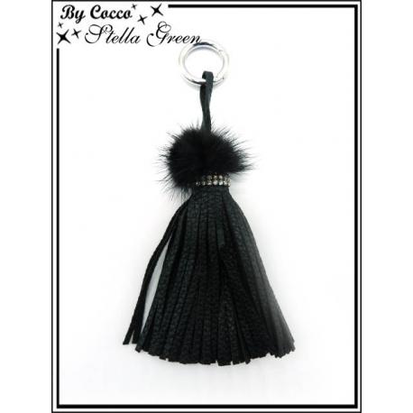 Bijoux de Sacs - Stella Green - Liseré Noir - Franges - Noir