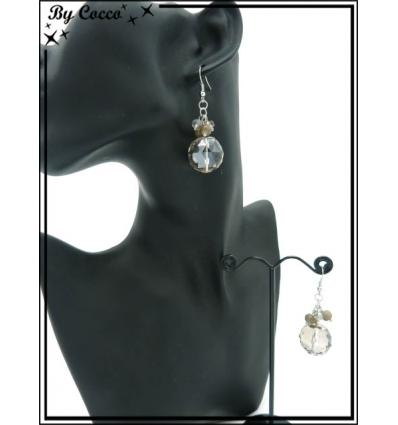 Boucles d'oreilles - Multi-perles - Transparent