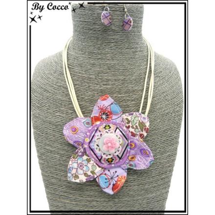 Parure - Fleur - Tissu 2 - Multicolor