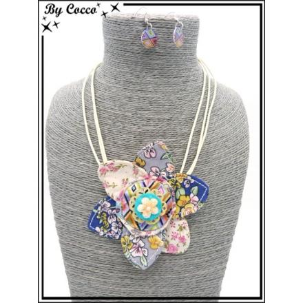 Parure - Fleur - Tissu 1 - Multicolor