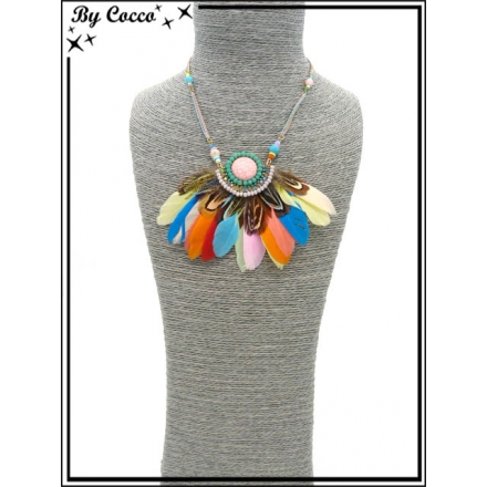 Collier - Plumes - Multicolor