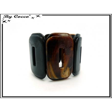 Bracelet résine - Dégradé marron