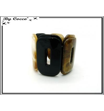 Bracelet résine - Dégradé marron / ocre