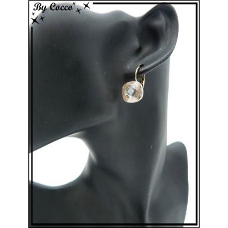 Boucles d'oreilles - Perle beige
