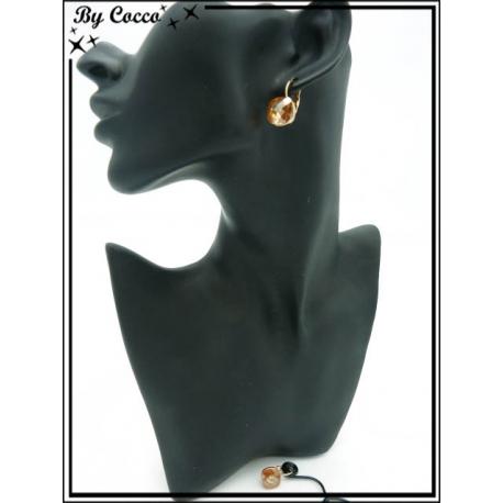 Boucles d'oreilles - Perle ocre